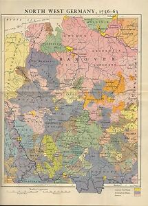 MAPBATTLE PLAN NORTH WEST GERMANY MUNSTER HANOVER - Germany map munster