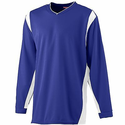 Augusta Sportswear Men's Self Fabric Cuff Long Sleeve Wicking Warmup Shirt. 4600