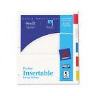 Avery Dennison Ave-11270 Worksaver Five Tab Pocket Index - 5 X / Set
