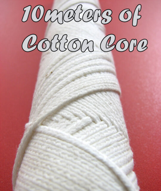 SALE - 40% ! 10 metres of Braided COTTON CORE, Candle WICK, Stoppini per Candele