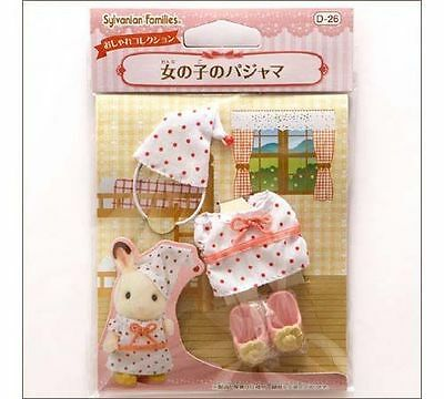 SYLVANIAN FAMILIES JP CALICO CRITTERS D-26 GIRL'S PAJAMAS CLOTHING WITH SHOES