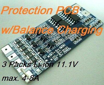 20pcs Protection PCB for 3 Pack 11.1V Li-ion Lithium 18650 Batt 4-8A w/Balance