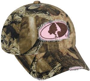 Womens-Ladies-Mossy-Oak-Break-Up-Infinity-Camo-Pink-Deer-Hunting-Frayed-Hat