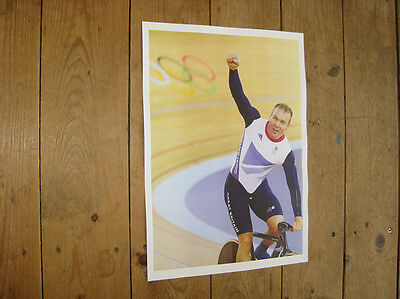 Chris Hoy Cycling Olympic Winner Poster Large Assortment Sports Memorabilia