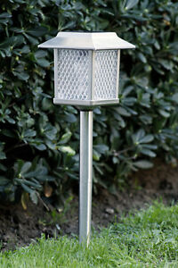large outdoor garden stainless steel solar landscape light lamp lawn
