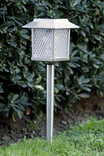 6 Large Outdoor Garden Stainless Steel Solar Landscape Light Lamp Lawn
