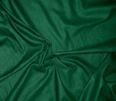 """RAW SILK NOIL Fabric DARK GREEN 14""""x22"""" remnant"""