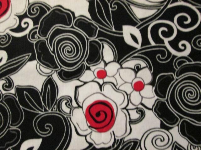 Retro French Red Poppy Kennedy Cotton Fabric BTHY