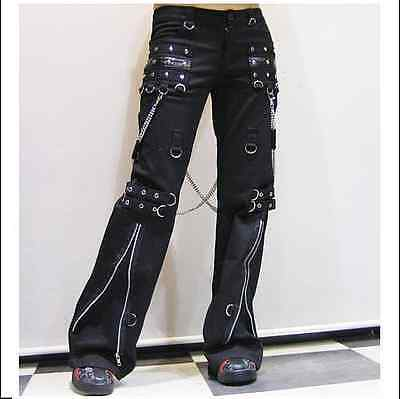 New Unisex PUNK Rave Gothic Heavy Metal Black pants K-028 ALL STOCK IN AUSTRALIA