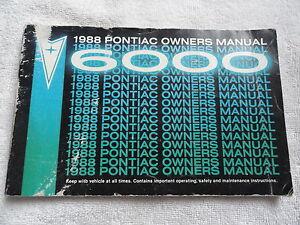 1988-Pontiac-6000-Owners-Manual