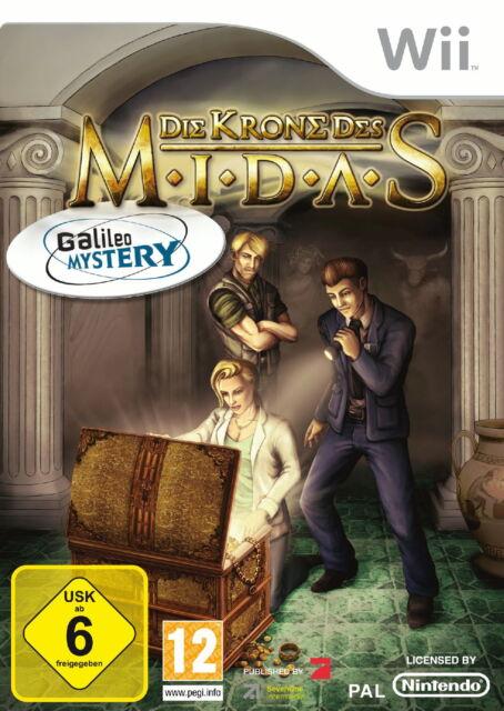 Galileo Mystery: Die Krone des Midas (Nintendo Wii, 2009, DVD-Box)