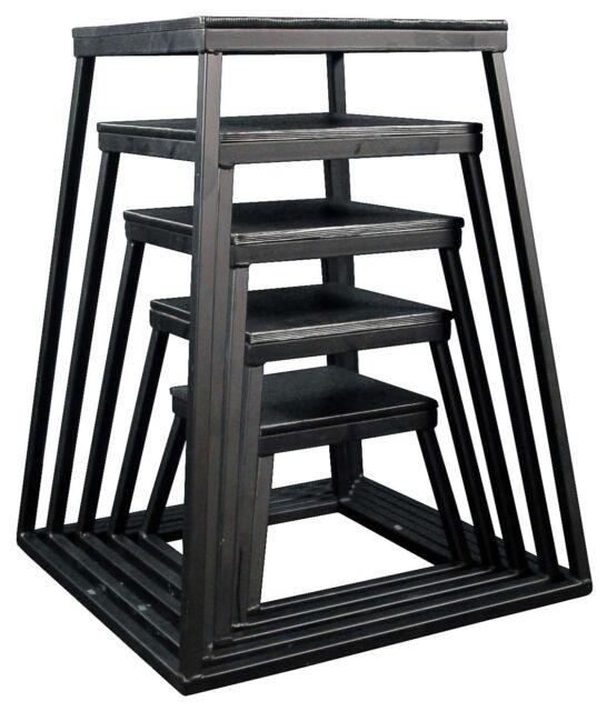 "Ader Black Plyometric Jump Box 5 Piece Set- 12"" to 36"""