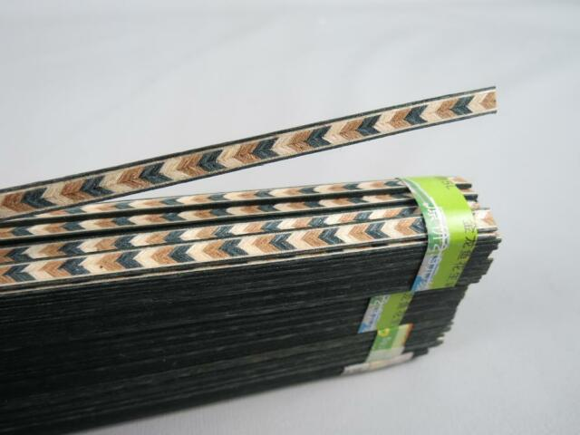 100STRIP LUTHIER FIGURED BINDING XL-61,Measures 5mm x1.2mm thick and 640mm long
