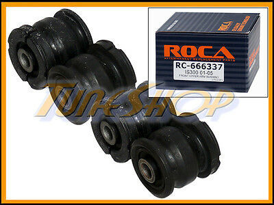 ROCA 01-05 LEXUS IS300 FRONT L&R UPPER CONTROL ARM BUSHING KIT OE OEM STOCK 4 PC