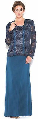 3 COLORS FORMAL GOWN OCCASION MOTHER OF THE BRIDE/GROOM DRESS EVINING M To 4XL