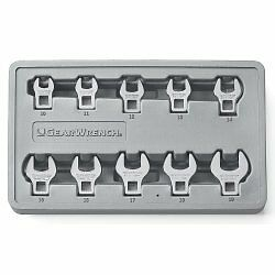 "Gearwrench 81909 3/8"" Drive Metric Crowfoot Wrench Set, 10 Piece"