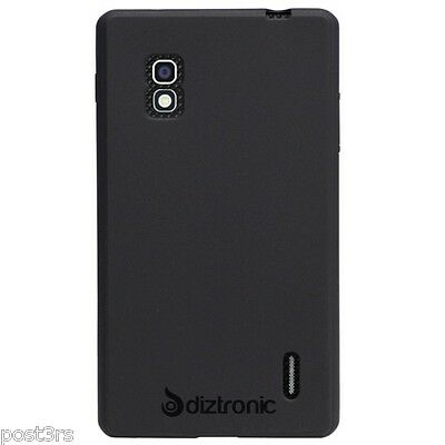 Diztronic AT&T LG Optimus G Matte Back Black TPU Case Cover 4G LTE E970