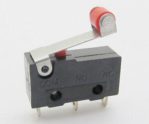 10pcs 20x10x6mm AC 125V-250V 5A Micro Roller Hebel Arm Limit Schalter Kw12-3 PCB