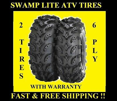 PAIR (2) 22X8-10 INTERCO SWAMP LITE ATV TIRES , TWO NEW TIRES TO YOUR DOOR FREE