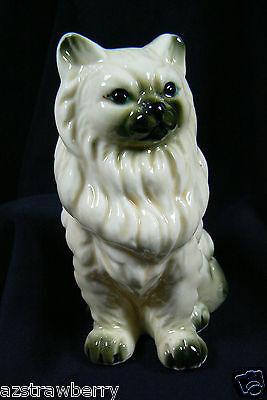 Vintage Miniature Genuine Bone China Persian White Cat Figurine Taiwan