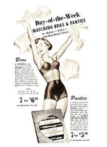 13899-Postcard-Day-of-the-Week-Matching-Bras-and-Panties-Ladies-Underwear