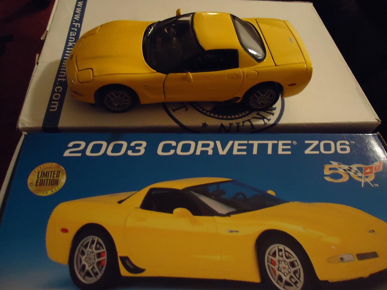 Franklin Comme neuf 2003 Corvette 50th ans C5 Jaune Z06 B11C474 Factory Fresh