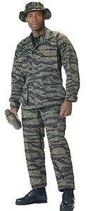 BDU-SHIRT-TIGER-STRIPE-Camo-4-pocket-Uniform-Poly-Cotton-Twill-New-XS-3XL