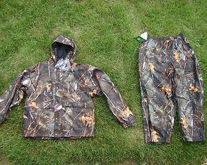 Microfleece-Waterproof-Camoflauge-Deer-Hunting-Pants-Jacket-Set-Burly-Camo-3X