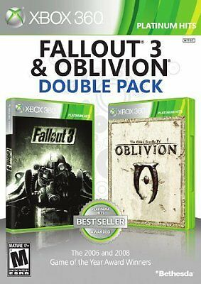 Fallout 3 & Oblivion Double Pack  (Xbox 360, 2012) Brand new factory sealed!