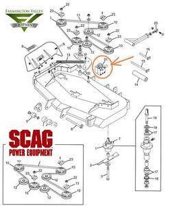 scag mower deck belt diagram diagram scag turf tiger mower deck gear box 482486 new oem shipping