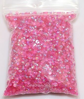New 2000pcs 3mm Diy Facets Resin Rhinestone Gems Flat Back Crystal beads