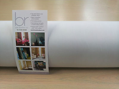 """LINING - Blackout Quality Ultrasoft 3 Pass Curtain Lining WHITE 54"""" Wide"""