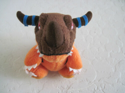 "4"" Bandai Digimon GREYMON Plush Stuffed Animal"
