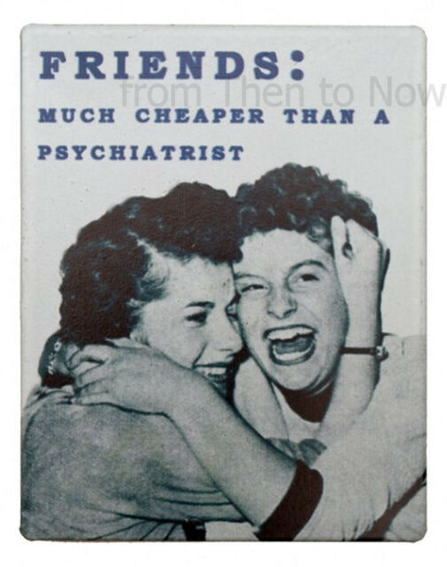 Retro Metal Fridge Magnet Various Humorous Quotes Vintage Designs Chic & Shabby