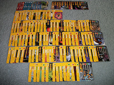 X-MEN OVERPOWER COMPLETE SET OF ALL COMMON / UN-COMMON (131 CARDS) - 65% OF SET