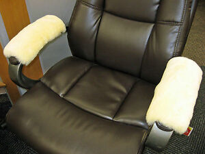 Medical-Ivory-Merino-Sheepskin-Armrest-Covers-Pad-Scooter-Office-Wheel-Chair-Arm
