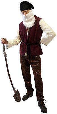 Snow White DWARF/GNOME COMPLETE FANCY DRESS COSTUME All sizes Also XXXL