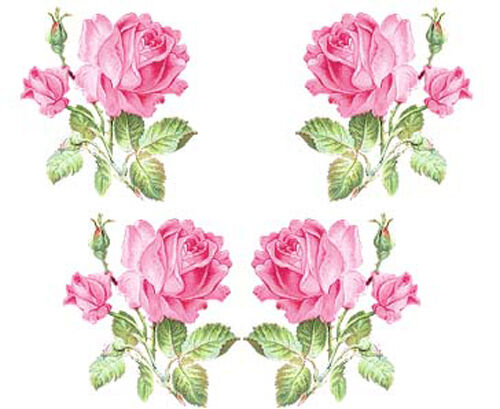 26 PReTTy PinK CoTTaGe RoSeS ShaBby WaTerSLiDe DeCALs