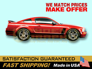 2005-2006-2007-2008-2009-Mustang-039-70-Boss-Style-L-Side-Stripes-Decals-Stripe-Kit