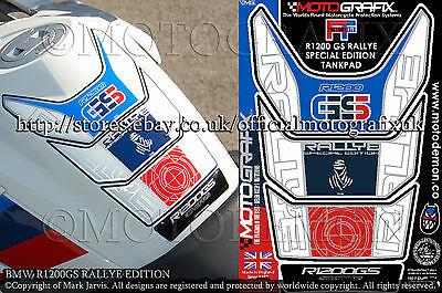 BMW R1200GS Rallye Special Edition Dakar Tank Pad Motografix 3D Gel Protector