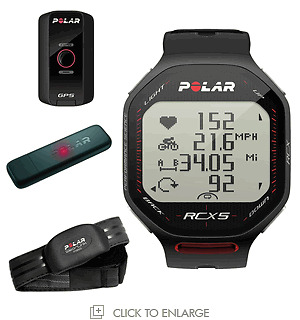 New POLAR RCX5-G5 GPS BLACK Heart Rate Monitor  / Running Watch Fitness  HRM