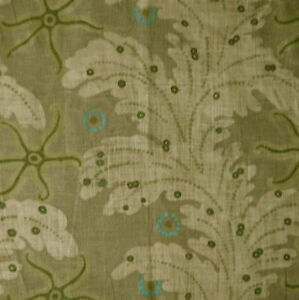 TRAVERS Camden citrus linen print taupe green turquoise starfish new remnant