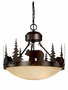 Bear vaxcel Yellowstone Rustic Country Chandelier Bozeman ...