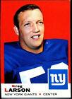 1969 Topps Greg Larson New York Giants #106 Football Card