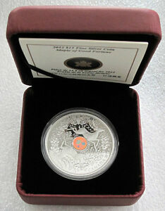 2012-CANADA-15-DOLLARS-SILVER-COIN-MAPLE-OF-GOOD-FORTUNE-9999-HOLOGRAM