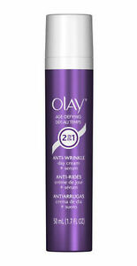 Olay Age Defying Anti-Wrinkle 2-in-1 Day Cream Plus Face Serum, 1.7 oz Only Eyes-Advanced Eye Serum-Breakthrough Skincare For Immediate & Lasting Reduction in Fine Lines, Puffiness & Dark Circles