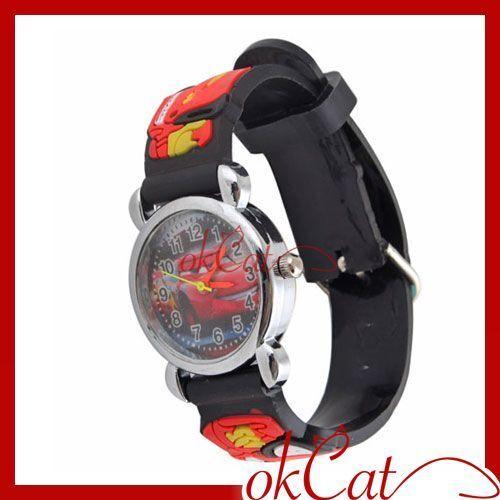 Fashion New Kids Leather WristWatch Gift For Disney Pixar Car Watch MY