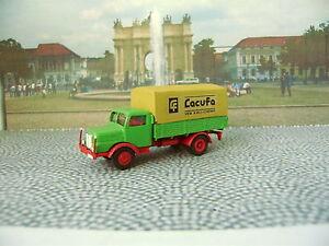 KEHI 536 - S4000-1 Pritschenwagen mit Plane grün H0 / 1:87