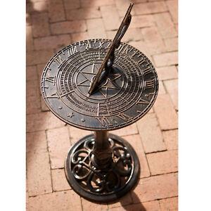 Outdoor-Decor-Antiq-Design-Cast-Aluminum-Garden-Sundial