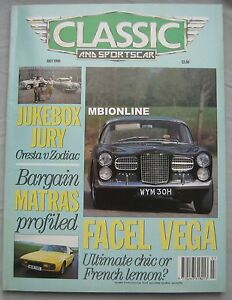 Classic-Sportscar-07-1990-featuring-Sunbeam-Tiger-Porsche-Facel-Vega-Matra